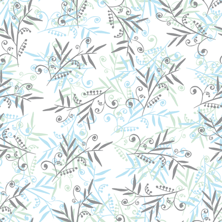 squiggles: Vector seamless floral vintage background Illustration