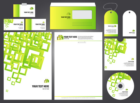 proprietary: Editable bright empty corporate identity template. vector