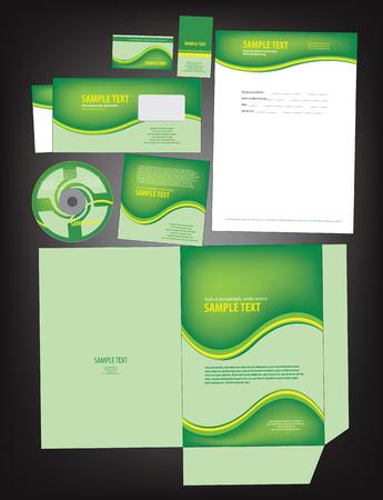identity template: Editable bright empty corporate identity template. vector
