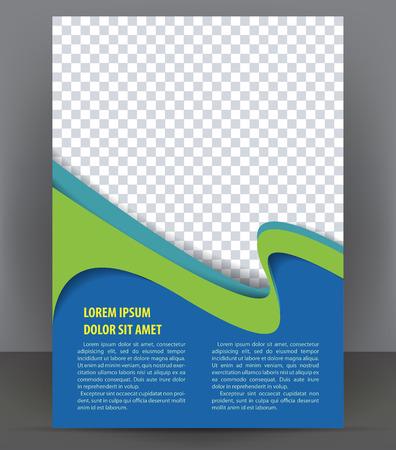 Magazine, dépliant, brochure et un modèle de conception de mise en page couverture, vecteur Illustration Banque d'images - 46661006
