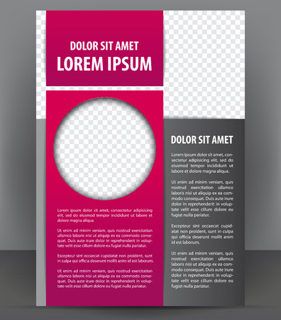 Magazine, flyer, brochure and cover layout violet design template, vector Illustration