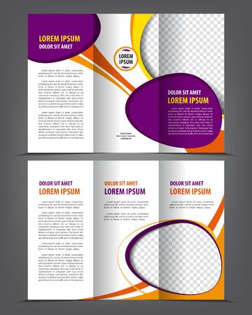 threefold: Vector empty trifold brochure design print template Illustration