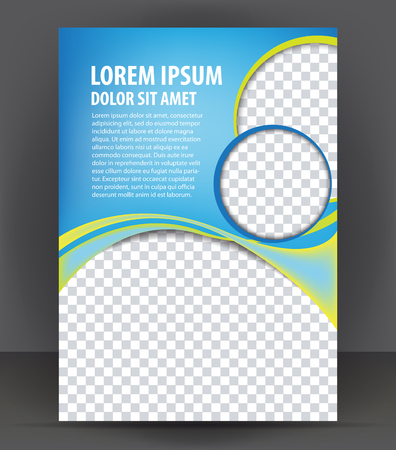 Magazine, flyer, brochure and cover layout design print template, pamphlet vector Illustration Vettoriali
