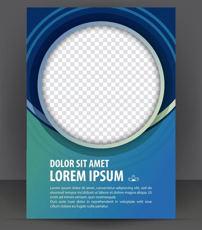 Magazine, dépliant, brochure et de la couverture mise en page modèle de conception d'impression, vecteur Illustration Banque d'images - 46661065