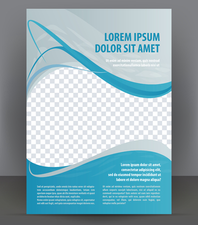 Magazine, flyer, brochure and cover layout design template, vector Illustration