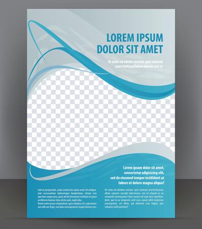 sjabloon: Magazine, flyer, brochure en dekking lay-out ontwerp sjabloon, vector Illustratie