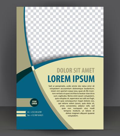 Magazine, dépliant, brochure et de la couverture mise en page modèle de conception d'impression, vecteur Illustration livret Banque d'images - 46661072