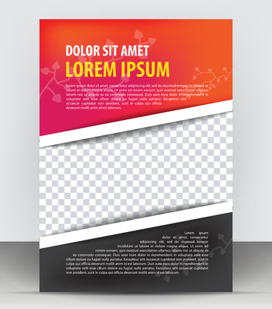 Magazine, flyer, brochure, cover layout design print template, red black vector Illustration