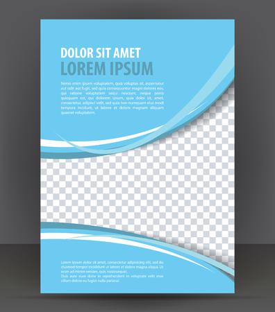 Magazine, dépliant, brochure, livret, couverture mise en page modèle de conception d'impression, la lumière bleue vecteur Illustration Banque d'images - 46661100