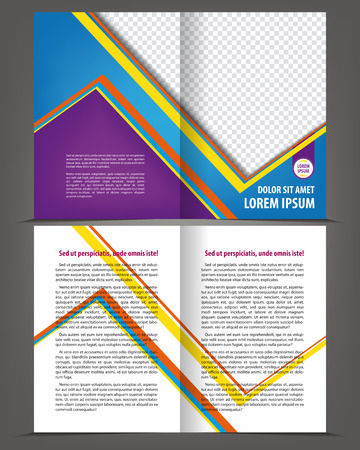 throwaway: Vector empty bi-fold brochure print blank template design