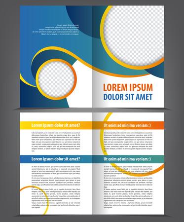 stern: Vector empty bifold brochure design print template Illustration