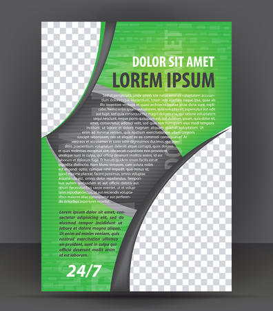 pamphlet: Magazine, flyer, brochure and cover layout design print template, pamphlet vector Illustration Illustration