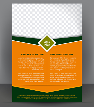 Magazine, flyer, brochure and cover layout design print template, vector Illustration Çizim
