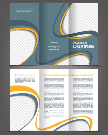 flyer template: Vector empty trifold brochure design print template Illustration