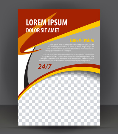 Magazine, flyer, brochure and cover layout design print template, pamphlet vector Illustration Illustration