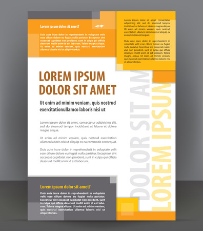 corporate brochure: Vector brochure, flyer, magazine, poster and cover empty template Illustration