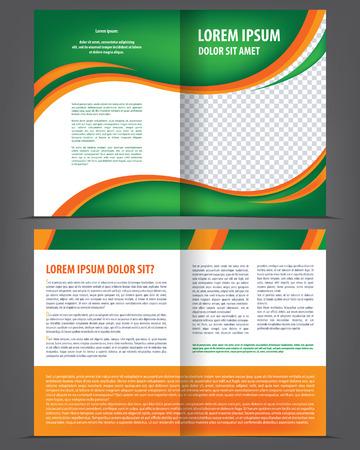 celadon: Vector empty brochure print template design