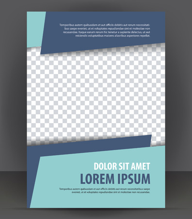 Magazine, flyer, brochure, cover layout design print template Stock fotó - 46601283