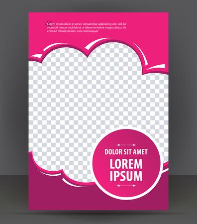 Magazine, dépliant, brochure, la beauté couvercle mise violette modèle de conception, vecteur Illustration Banque d'images - 46601296
