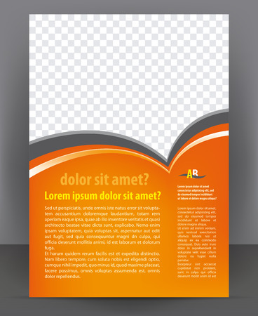 Magazine, flayer, brochure and cover layout design print template, vector Illustration