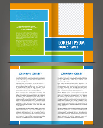 pamphlet: Vector empty multicolored bifold brochure design template