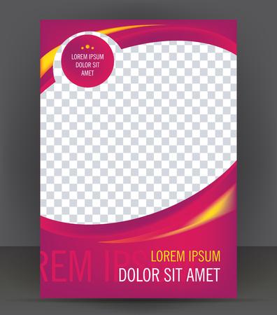 Magazine, flyer, brochure, beauty cover layout violet design template, vector Illustration