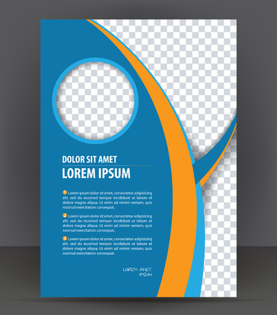 poster: Magazine, flyer, brochure, cover layout design print template