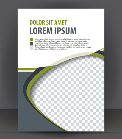 throwaway: Magazine, flyer, brochure, cover layout design print template, vector booklet Illustration