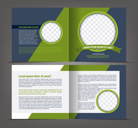 Vector empty two-faced brochure print template design