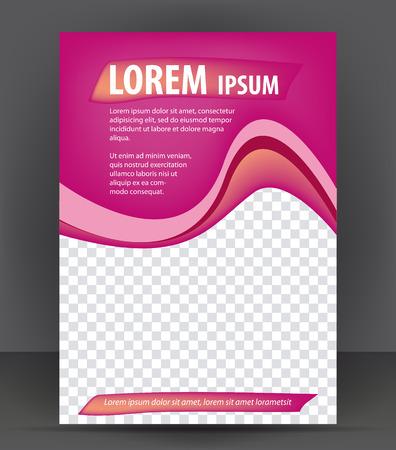 violeta: Revista, folleto, folleto, belleza cubierta diseño violeta plantilla de diseño, ilustración vectorial Vectores