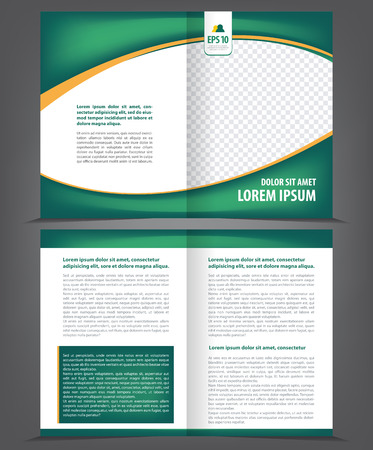 green backgrounds: Vector empty brochure print template green eco design
