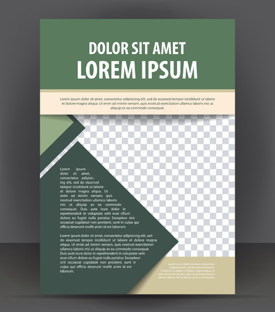 Magazine, flyer, brochure and cover layout design print template, pamphlet vector Illustration Illustration