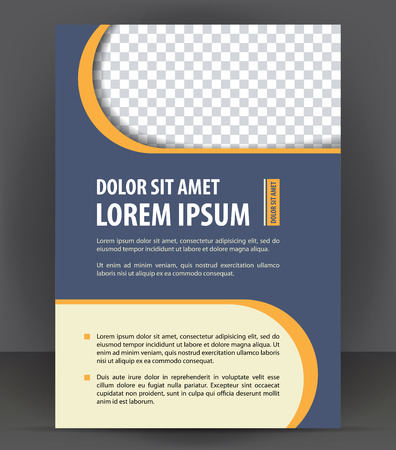 flayer: Vector brochure, flayer, magazine, poster, cover empty print template