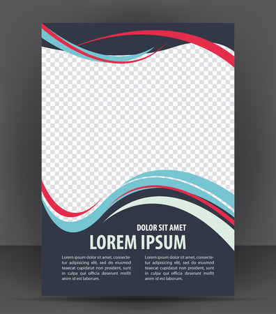 design template: Magazine, flyer, brochure and cover layout design print template, vector booklet Illustration