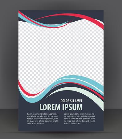 Revista, folleto, folleto y el diseño cubierta de la plantilla de diseño de impresión, ilustración vectorial folleto Foto de archivo - 46565888