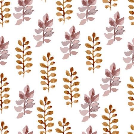 abloom: Vector acuarela patr�n transparente brillante flor, ornamento floral rama de la primavera, impresi�n de la moda para la tela, las peque�as hojas de dibujo a l�piz de la acuarela Vectores