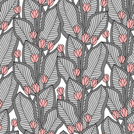 ethnical: Vector seamless floral endless pattern, ethnical ornament with flowers, fashion fabric pattern