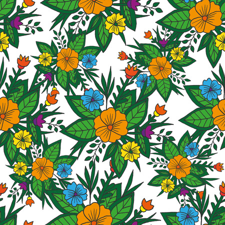 ethnical: Vector seamless bright ethnic endless pattern, floral ethnical ornament, fashion fabric pattern