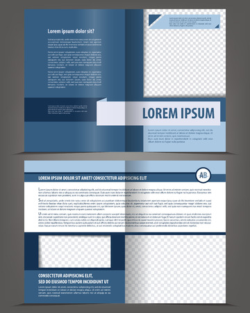 magazine page: Vector empty bi-fold brochure print template design