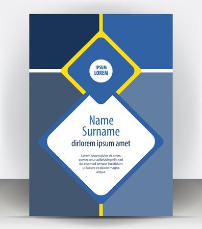 pamphlet: Magazine, flyer, brochure or cover layout design print template, pamphlet vector Illustration