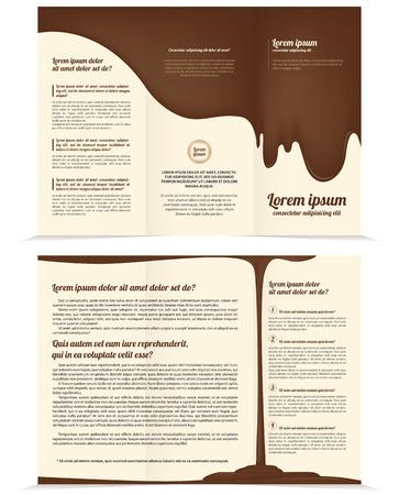 threefold: Threefold chocolate business brochure template Illustration