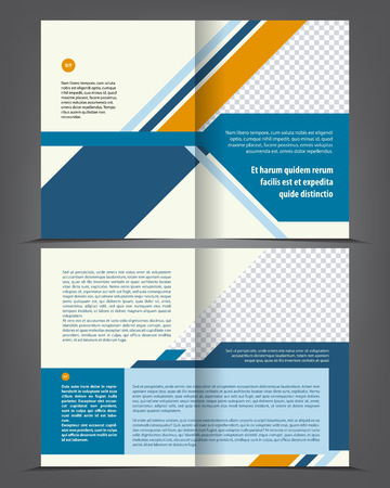 flayer: Vector empty bi-fold brochure print template design, newsletter booklet layout