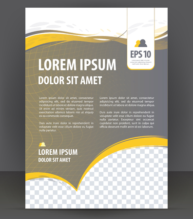 Vector brochure, flyer, magazine, poster and cover empty template Çizim