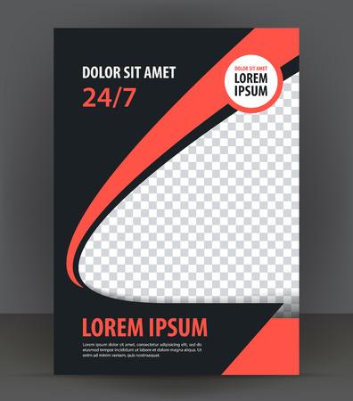 Magazine, dépliant, brochure et de la couverture mise en page modèle de conception d'impression, vecteur Illustration livret Banque d'images - 46566105