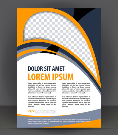 flayer: Magazine, flyer, brochure and cover layout design print template, vector booklet Illustration