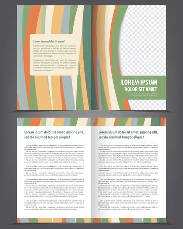 bifold: Vector empty multicolored bifold brochure print design template