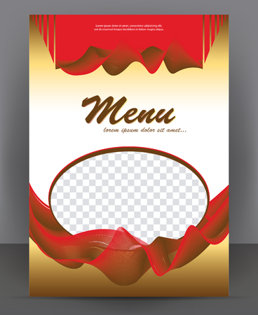Vector brochure, flyer, magazine, poster, menu and cover empty template Vetores