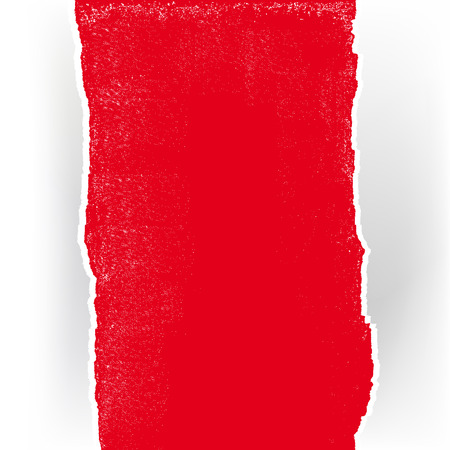 lacerated: Red torn paper on white background Illustration