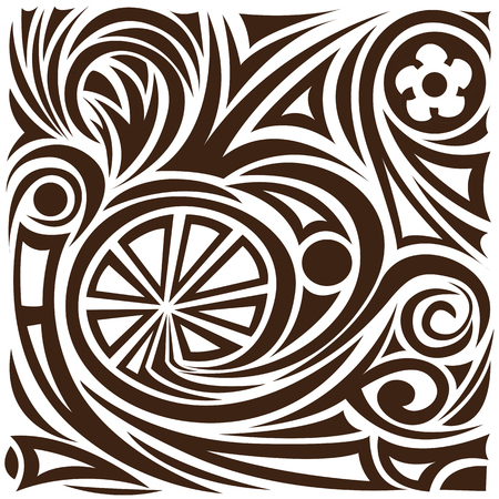 whorls: Vector abstract pattern. tattoo