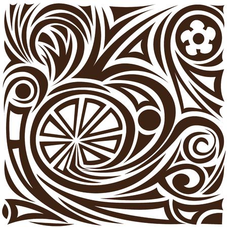 whorls: Vector abstract pattern. tattoo
